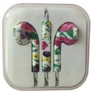 Edge Plus Printed Designer Earphone For Apple I Phone(Flower Print) Headphones