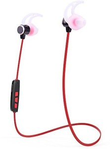 Basstyle Basstyle TB-1019CF Hot Selling 2015 Newest Bluetooth Earphone Headset for Sports with Super Comfortable Ear Tips Never Fall Out (Red) Wireless Bluetooth Headset With Mic