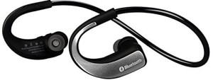 Sunorm Sunorm Bluetooth 4.0 Sport Headset Wireless Headphones with Microphone for Sport Running Noise Cancelling Earbud Earphone for Cell Phone (Silver) Headset with Mic