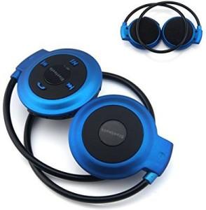 Fifine FiFine Wireless Bluetooth Music Stereo Universal Headset Headphone for iPhone iPad Samsung, blue Wireless Bluetooth Headset With Mic