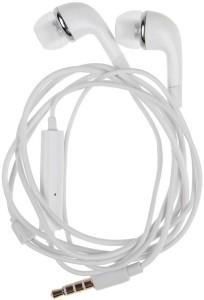 Ms. King Micromax Canvas Nitro A310 Compatible Stereo Sound Handsfree Earphone (White, In the Ear) Wired Headset With Mic