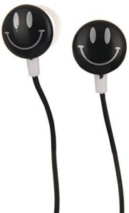 rooplaxmi Smiley Yellow Super Bass Wired Headphones (yellow, In the Ear) Wired Headset With Mic