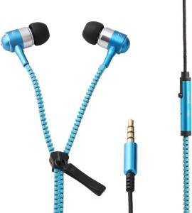 Zipper Earphones With Mic Wired Gaming Headset With Mic