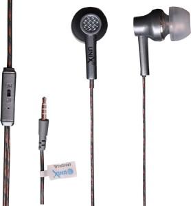 Unix RHODIUM Metal Series Universal HiFi Stereo HD Mic ultra-Bass In-Ear Beat Headphone Wired Gaming Headset With Mic