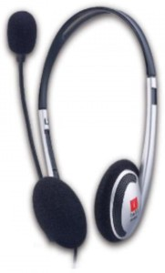 Iball i342MV (Silver) Wired Headset With Mic