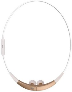 5ive 5ive® S920 Wireless Bluetooth 4.0 Music Stereo Universal Sport Running Headset Headphone Neckband Necklace Style rophone for iPhone Samsung LG Smartphone (White-Gold) Wireless Bluetooth Headset With Mic