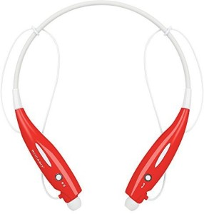 Kocaso Kocaso Bluetooth Wireless Sports Headphones With Microphone Neck Strap Magnetized Earbuds For Easy Storage (Red) Wireless Bluetooth Headset With Mic