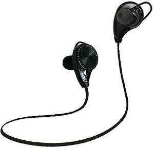 Ecandy Bluetooth Headset Headphones Earphone,Ecandy Wireless Hands-free Headset with Microphone for Apple iPhone iPad iPod Samsung Android Smart Phones And Other Bluetooth Device-Black Headset with Mic