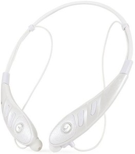 PowerLead PowerLead PL008 Bluetooth Headphones Neckband Wireless Stereo Headsets with Hands-free Calling for Iphone 6,6 Plus, Android Cellphones Enabled Bluetooth Device-White Bluetooth Headset with Mic