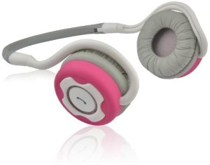 NoiseHush NoiseHush NS400-12614 Bluetooth Stereo On-Ear Headphones - White/Pink Headset with Mic