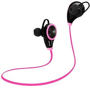 Ecandy Bluetooth Headset Headphones Earphone,Ecandy Wireless Hands-free Headset with Microphone for Apple iPhone iPad iPod Samsung Android Smart Phones And Other Bluetooth Device-Rose Headset with Mic