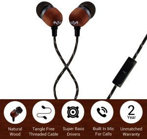 7473e7e056e House of Marley Smile Jamaica EM-JE041-SB Wired Headset With Micsolid black