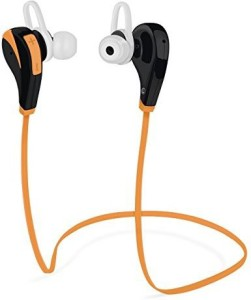 Best Elec Bluetooth Headphone, BestElec 4.0 Wireless Stereo Headset Sweat-proof Sports Running Gym Earphones rophone for iPhone 6s Plus, 6 Plus, Samsung, Other Android & IOS Phones, Orange Wireless Bluetooth Headset With Mic