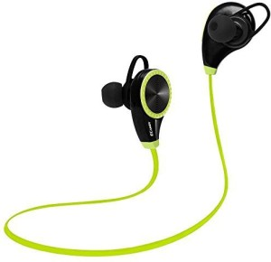 Ecandy Bluetooth Headset Headphones Earphone,Ecandy Wireless Hands-free Headset with Microphone for Apple iPhone iPad iPod Samsung Android Smart Phones And Other Bluetooth Device-Green Headset with Mic