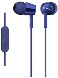 Sony MDR-EX150AP_Dark Blue Wired Bluetooth Headset With Mic