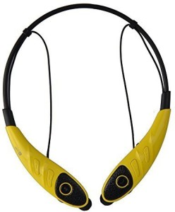 PowerLead PowerLead PL008 Bluetooth Headphones Neckband Wireless Stereo Headsets with Hands-free Calling for Iphone 6,6 Plus, Android Cellphones Enabled Bluetooth Device-Yellow Headset with Mic
