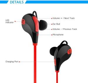 cf99812fd11 SoundPEATS QY7 Wireless Headphones Sport Bluetooth Earbuds Sweatproof  Running Earphones Bluetooth 4 Red Best Price in India   SoundPEATS QY7  Wireless ...