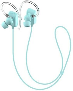 GLCON GLCON GS-06 Mini Blue Sports Sweatproof Wireless Stereo Bluetooth 4.0 Headset BT Headphones Earphone Earpiece Earbuds with Microphone Mic, A2DP, Noise Cancellation, Music Streaming and Control, Great for Sports, GYM, Running, Headset with Mic