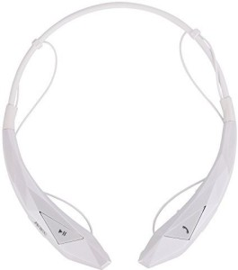 JIAKE JIAKE® New Version Wireless Bluetooth CSR 4.0 Music Stereo Universal Headset Headphone Vibration Neckband Style for iPhone iPad Mobile Device (White) Wireless Bluetooth Headset With Mic