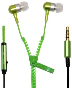 Wellcare Zipper Handfree For Micromax Andro A Wired Headset With Mic