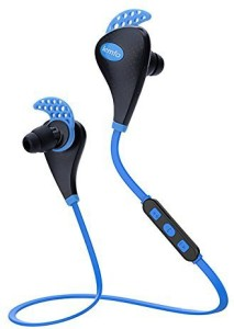 LEMFO LEMFO Wireless Bluetooth V4.1 Earbuds Noise Cancelling Sports Running Gym Exercise Sweatproof Earphones (Blue) Bluetooth Headset with Mic