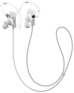 GLCON GLCON GS-06 Mini White Sport Sweatproof Wireless Stereo Bluetooth 4.0 Headset BT Headphones Earphones Earpiece Earbuds with Microphone Mic, A2DP, Noise Cancellation, Music Streaming and Control, Great for Sports, GYM, Running Headset with Mic
