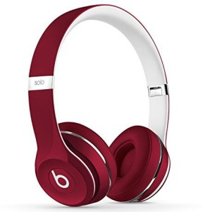 Beats Dr Dre Solo2 Wired On-Ear Headphones (Luxe Edition) Red ML9G2PA/A Wireless Bluetooth Headset With Mic
