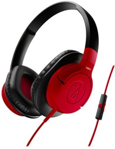 Audio Technica ATH-AX1iS RD Headset with Mic