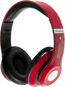 SData Plus Plus P15 Red Wired & Wireless Bluetooth Gaming Headset With Mic