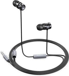 Aukey In-Ear with Metal Housing Wired Headset With Mic
