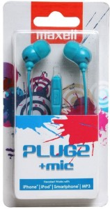 Maxell Plugz  Wired Headset With Mic