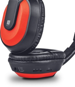 Iball MusiTap-Red Wireless Bluetooth Headset With Mic