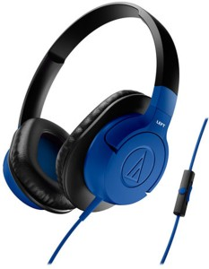 Audio Technica ATH-AX1iS BL Headset with Mic