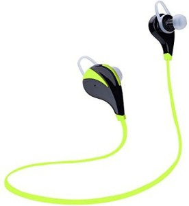 SmartSync Bluetooth 4.0 Headset Stereo Earphones Wireless Earset Earbuds Sweatproof Sports Running Headphones rophone For Andorid IOS Mobile Phones 3D music experience Smart Voice Control (Green) Wireless Bluetooth Gaming Headset With Mic