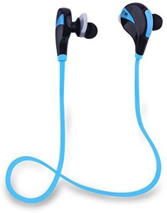 Sunvito Sunvito Portable Sweatproof Bluetooth Headset Wireless Stereo V4.0 Headphone Earbubs rophone Noise Cancellation Sport/Running Earphone for Ipad Iphone Smartphone Samsung (Black-blue) Wireless Bluetooth Headset With Mic