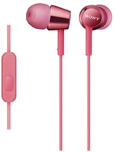Sony MDR-EX150AP_Light Pink Wired Headset With Mic