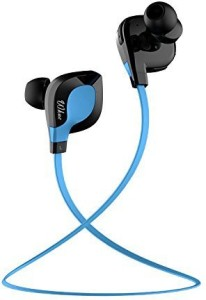 Wkae Wkae® Wkae 501 Bluetooth 4.1 Wireless Stereo Jogger, Running, Sport Headphones Earbuds with Mic Hands-free Calling, AptX for iphone 6, 6 Plus, 5 5c 5s 4s ipad, LG G2, Samsung Galaxy S6 S5 S4 S3 Note 3 and Other Android Cell Phones(Blue) Headset with Mic