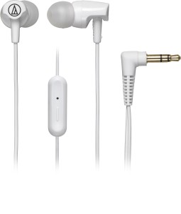 Audio Technica SonicFuel In-Ear ATH CLR100iS WH Wired Headset With Mic