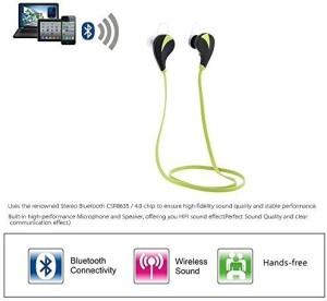WOFALA WOFALA Headset Wired & Wireless Bluetooth Headset With Mic