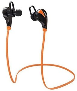 LEMFO LEMFO Wireless Bluetooth Earphones Stereo Sweatproof for Sports Running Gym Compatible with Andorid IOS Mobile Phones (Orange) Headset with Mic