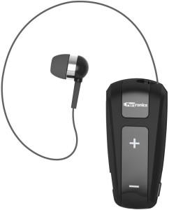 Portronics Harmonics 303 Retractable In-Ear Bluetooth Headset for Music & Calls Wired & Wireless Bluetooth Headset With Mic