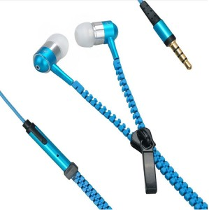 Wellcare Zipper Handfree For Karbonn S5+ Wired Headset With Mic