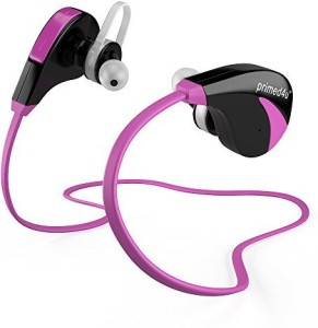 Primed4U Primed4U Best Bluetooth Headphones  | Wireless Stereo In-Ear Sport Headphones [Hot Pink] Wireless Bluetooth Headset With Mic