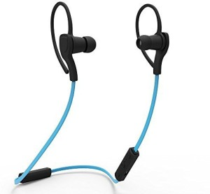 Masione Masione® Sport Bluetooth Headphone Earphone Wireless Stereo Headset Earpiece with Microphone For iPhone Samsung LG Cell Phones Tablet (Black Blue) Headset with Mic