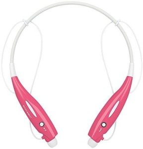 Kocaso Kocaso Bluetooth Wireless Sports Headphones With Microphone Neck Strap Magnetized Earbuds For Easy Storage (Pink) Wireless Bluetooth Headset With Mic