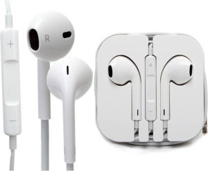SHOPCRAZE Hi-definition Premium Quality Earphones for 6s Plus Wired Headset With Mic (White) Wired Gaming Headset With Mic