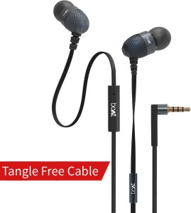 9a310889ab2 boAt BassHeads 220 Wired Headset With Mic Black Best Price in India ...