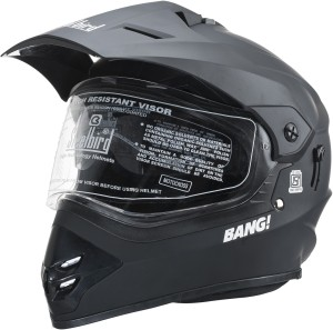 044f511b Steelbird SB 42 Matt Black Motorbike Helmet Black Best Price in ...