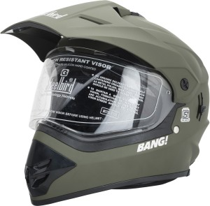 77a14acf Steelbird SB 42 Battle Green Motorbike Helmet Green Best Price in ...