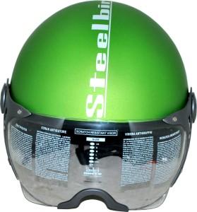 a4049340 Steelbird SB 27 Style Clear Visor Motorbike Helmet Green Best Price ...